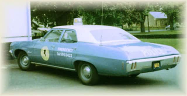 A 1970's era Stony Point Police car.