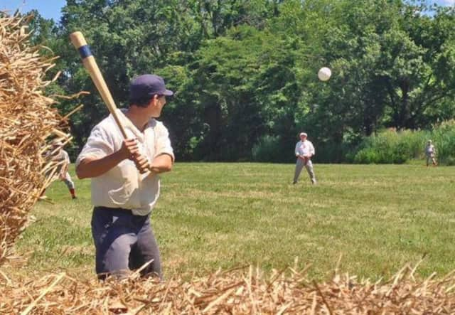 A vintage baseball game will be played in River Edge on Saturday.