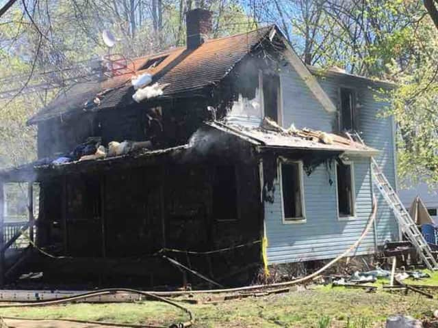 A fire destroyed a Teaneck house on Sunday.