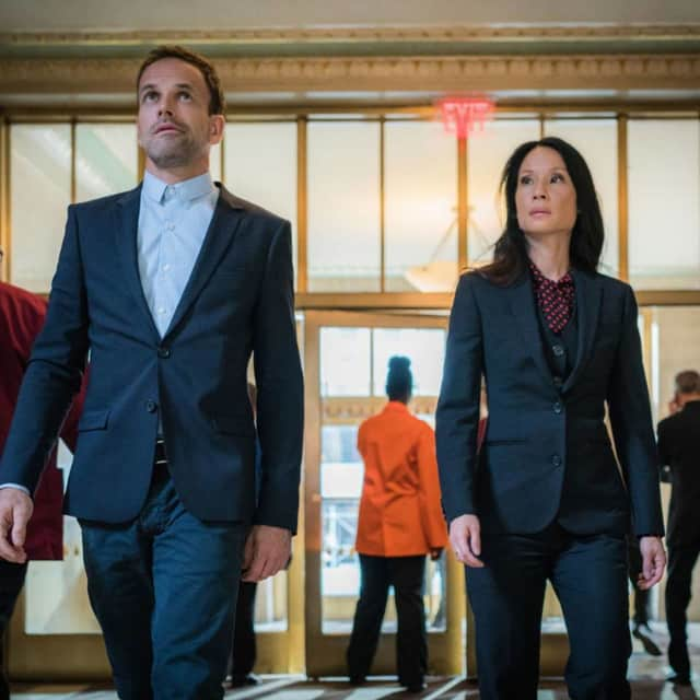 "Johnny Lee Miller and Lucy Liu star in the CBS show, ""Elementary."""