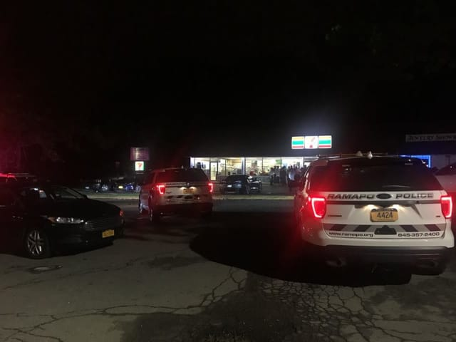 Two people were arrested following a disturbance at the 7-Eleven in Airmont.