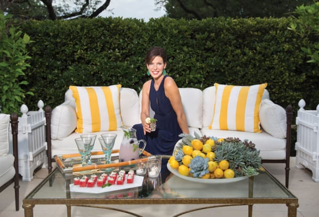 Carla McDonald, founder and editor-in-chief of The Salonnière. Photograph by Nell Seilor Carroll. Below, classic summertime entertaining. Images courtesy The Salonnière.