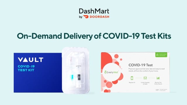 DoorDash has announced that they will be delivering same-day COVID-19 test kits that would allow a person to get test results within 24 to 48 hours.