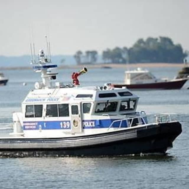 Greenwich Police marine patrol members rescued a man off Long Island Sound.