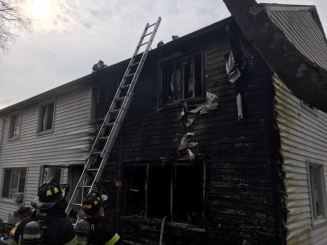 Two units of an apartment house were damaged during a fire.