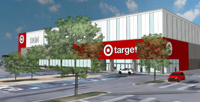 A rendering of the future Target location in Yonkers.