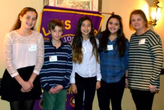 The Saddle River Lions Club distributed several awards to young people throughout the area.