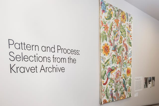 """""""Pattern and Process: Selections from the Kravet Archive"""" has opened at New York School of Interior Design. Courtesy New York School of Interior Design."""