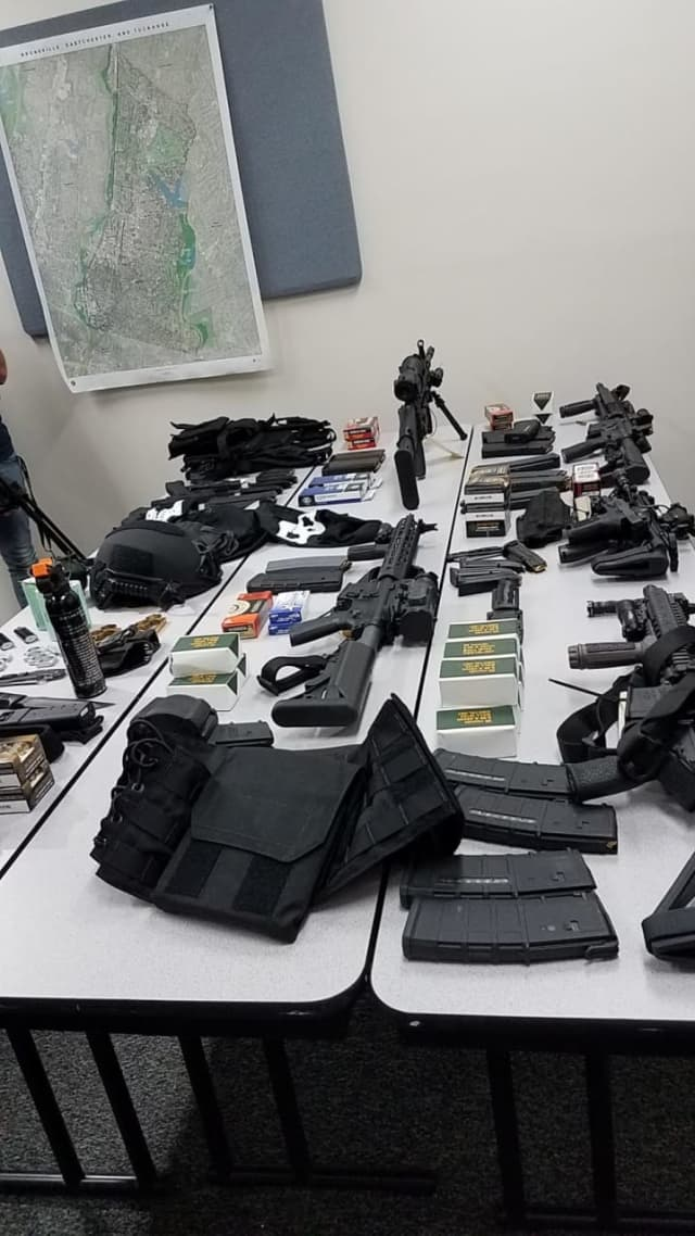 A plastic surgeon from Great Neck was busted with a weapons cache in his BMW.