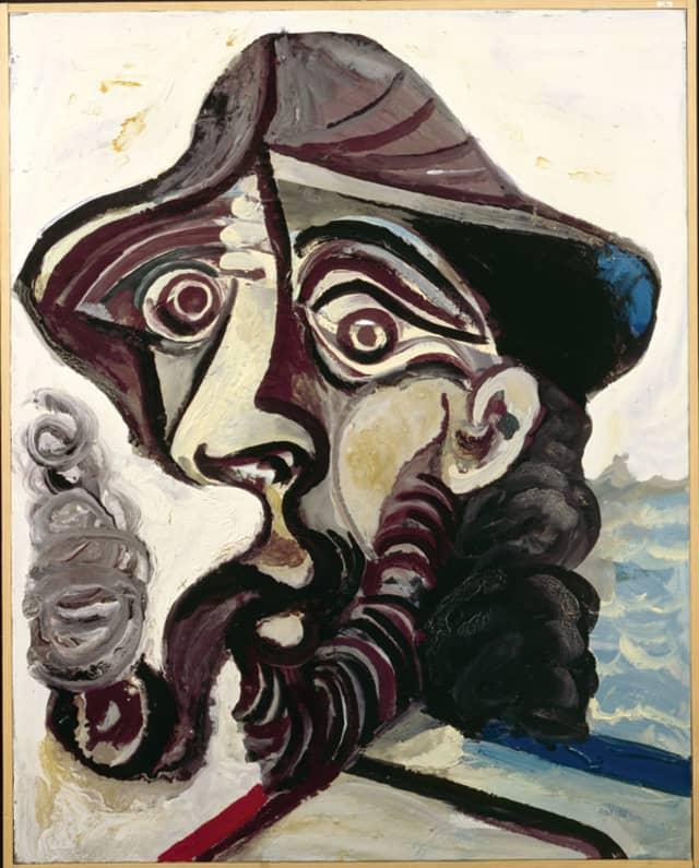"Pablo Picasso's ""The Smoker,"" glicée print on canvas. Courtesy French Tourist Bureau."