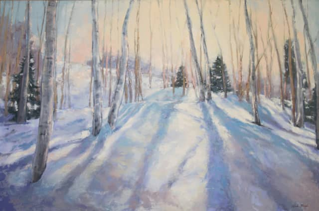 """Waning Winter Light,"" a painting by Miranda Girard. Courtesy Silvermine Arts Center."