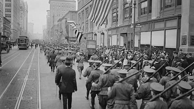 New York volunteers during the World War I era. Courtesy New Castle Historical Society.