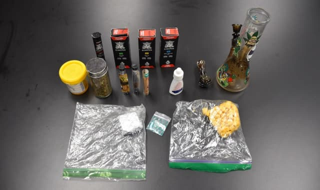 Seized from the 13-year-old boy were drugs and paraphernalia, Fair Lawn police said.