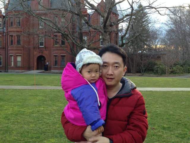 Sean Chen and his daughter, Bella.