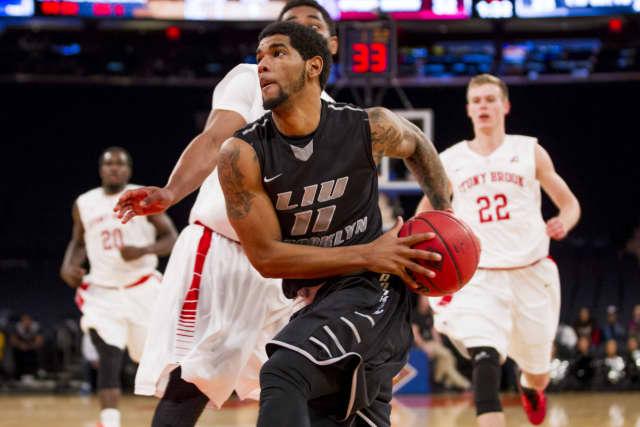 Teaneck High School graduate Joel Hernandez plays basketball for Long Island University.