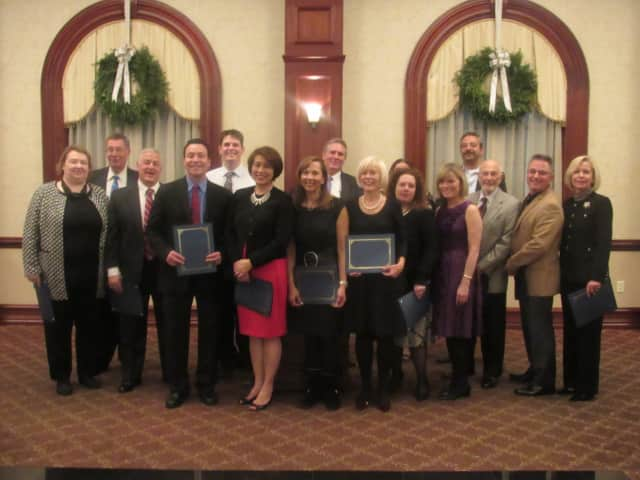 Members of Paramus Chamber of Commerce's Board of Directors at their installation dinner.