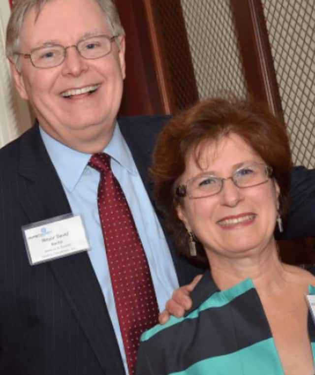 The late Judy Martin and her husband Stamford Mayor David Martin. Judy Martin died Thursday morning after a long battle with cancer.