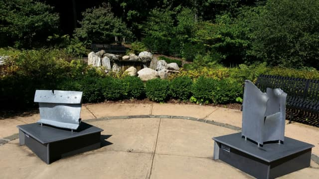 New Castle's 9/11 memorial, which is located at Gedney Park.