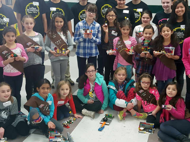 Young girls at a recent Pascack Pi-oneers event.