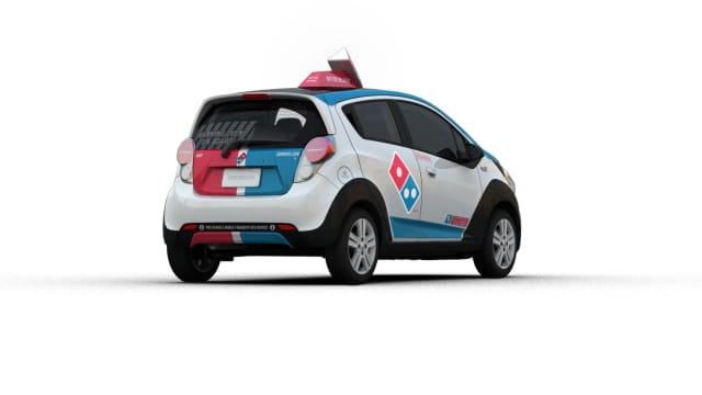 A Dominos delivery man was carjacked at gunpoint in Bloomfield, authorities said.
