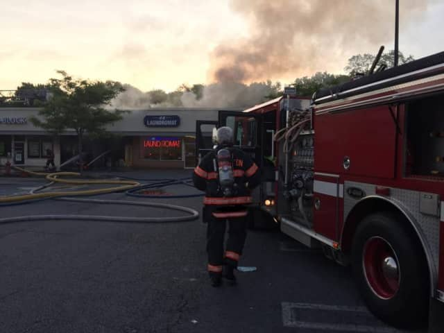 A fire destroyed Nonna's Pizzeria in the Town of Poughkeepsie on Wednesday. Arlington and other area fire departments were able to contain the frie from spreading to adjoining businesses at the mall off of Route ...