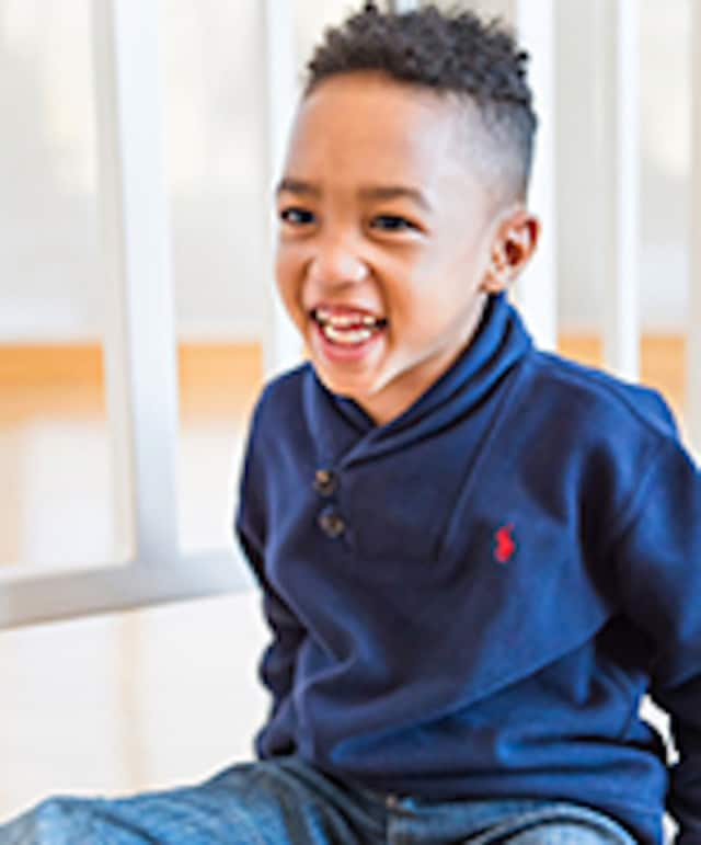 Five-year-old Eli Carson Whittaker is the Grand Marshal for the Maria Fareri Children's Hospital annual Go the Distance Walk and Family Fun Day.