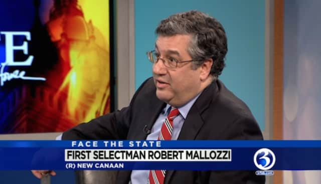 New Canaan First Selectman Rob Mallozzi III appears Sunday on 'Face the State' on WFSB.