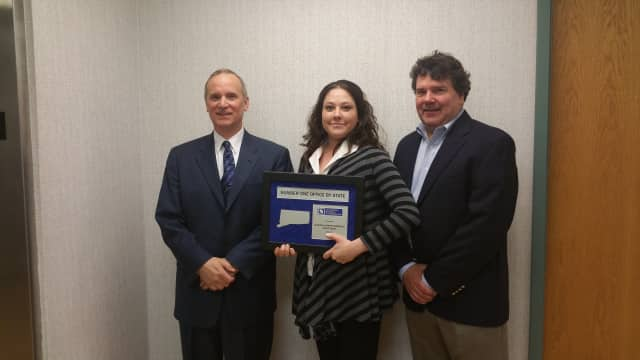 President and Owner Paul Scalzo, Jessica Ganser, vice president of investment services and Vince Byrne, general manager and executive vice president of business development with Coldwell Banker Commercial Febbraio Group