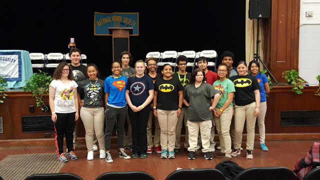 Garfield high-schoolers recently wore superhero t-shirts to school -- both for the freedom of it and to raise money for autism.