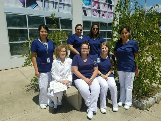 Westchester Community College students after completing the Medical Administrative Assistant program, preparing for a career in healthcare.