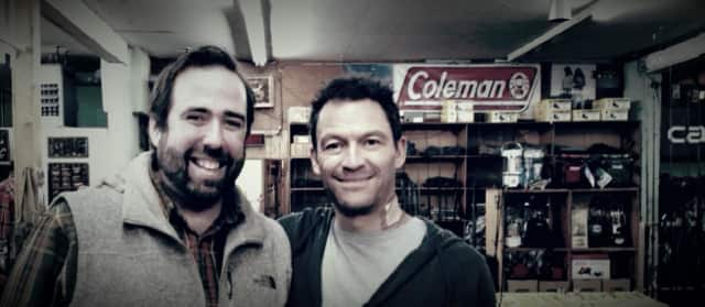 Chris Frawley, owner of Mel's Army-Navy with Dominic West.
