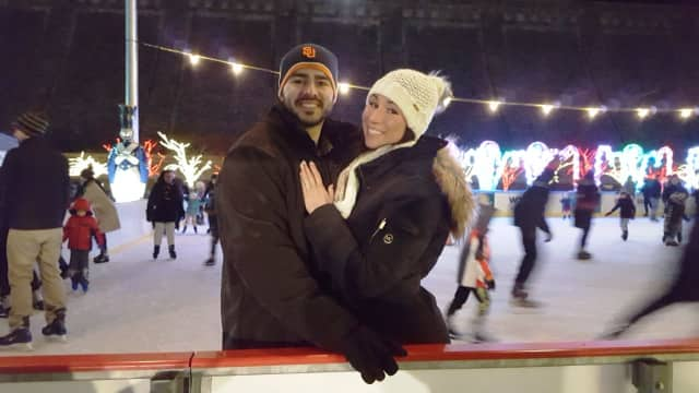 Tina Bacolas and Matt Iaccheo at Valhalla's Winter Wonderland.