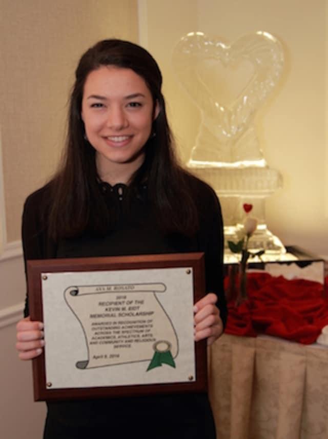 Norwalk High School senior Ava M. Rosato was selected as the 2016 recipient of the Kevin M. Eidt $100,000 Memorial Scholarship.