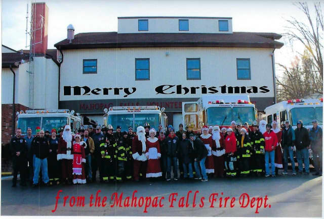Fire and EMS crews hit the streets in Mahopac Saturday, escorting Santa to get last-minute requests from the girls and boys, handing out candy canes, and collecting gifts for TOYS for TOTS.