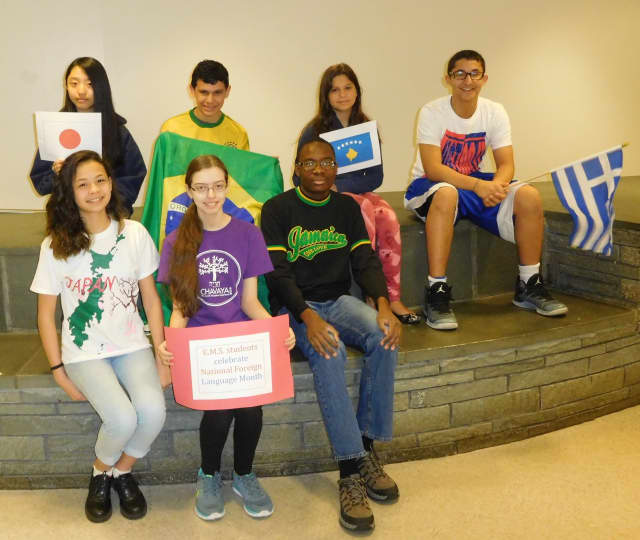 Eastchester Middle School students celebrated Foreign Language Month in March.