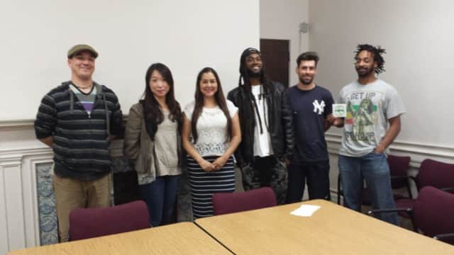 From left to right: Artists Ken Ziobro, Tai Hwa Goh, Monica Chavarria, Johnathan Houssou, Laurence Ciarallo and Marcus Story. Not shown: John Newcomb and Poramit Thantapalit