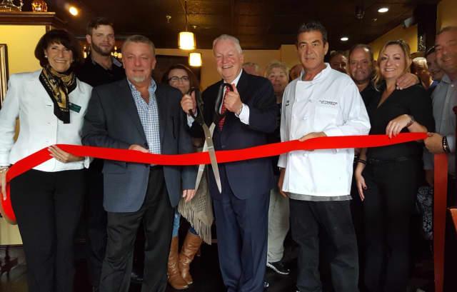 The ribbon cutting for Tuttobene Restaurant & Bar in Fairfield.