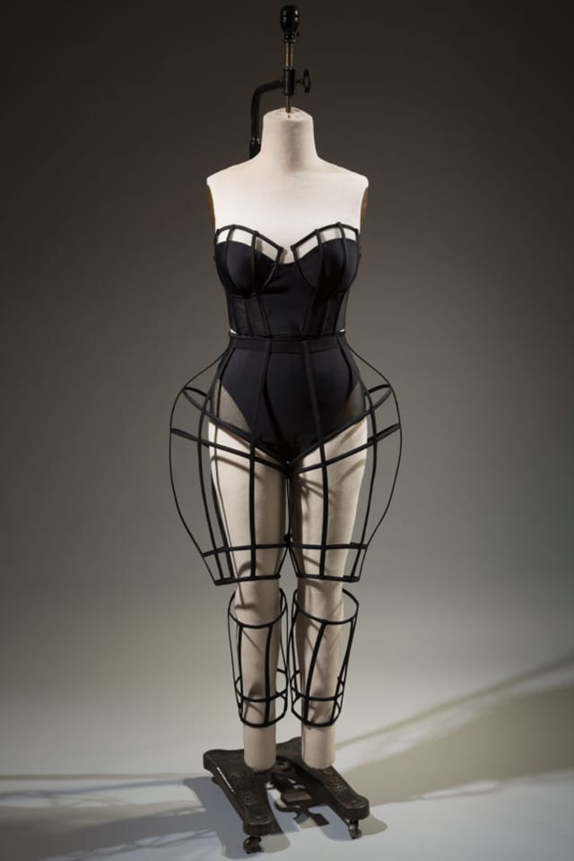 """Chromat, ensemble, spring 2015, USA. Featured in The Museum at FIT's """"The Body: Fashion and Physique"""" (2017). Courtesy The Museum at FIT."""