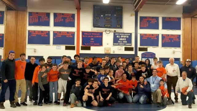 Horace Greeley wrestlers beat Fox Lake to win a league title for the first time in 27 years.