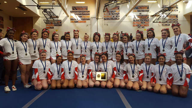 The North Rockland varsity cheerleaders won their Section 1 title and qualified for the state championships on Saturday. Squads from Putnam Valley and New Rochelle also advanced during the competition in White Plains.