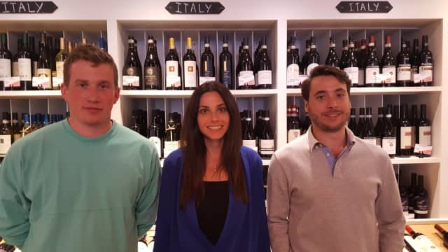 The team at Armonk Wine & Spirits: left to right:Gus Jacobson, Nancy Oster Rosner, and Brian Santoro.