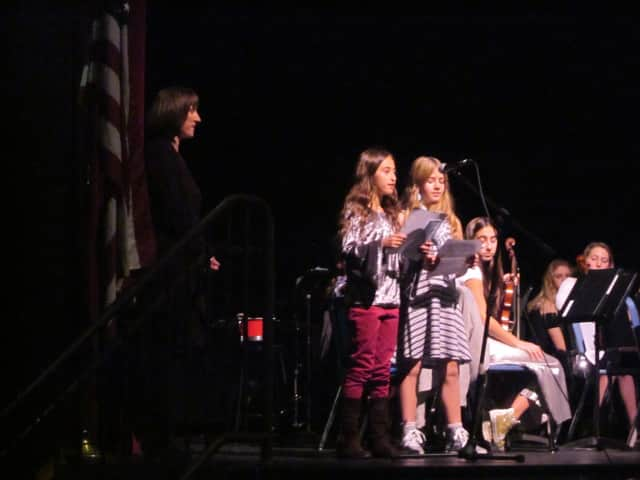Coleytown Middle School in Westport held its annual Giving Assembly on Wednesday