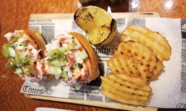 Mini lobster rolls with waffle fries and lemon brûlée. Photographs by Gina Gouveia.