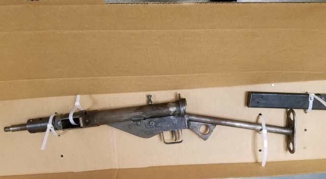 A Poughkeepsie man was nabbed with a fully automatic submachine gun and ammo.