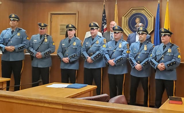 """They will be steering the department in the right direction moving forward,"" Hackensack Police Capt. Peter Busciglio said."
