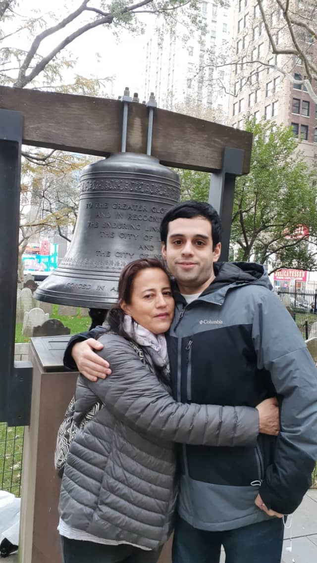 Nora Hernandez with her son Michael