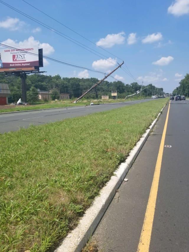 Fatal Route 9 crash scene in Marlboro Township.