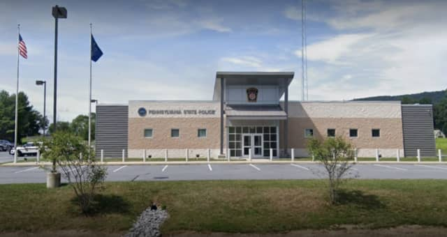 Pennsylvania State Police offices in Jonestown, Lebanon County, PA.