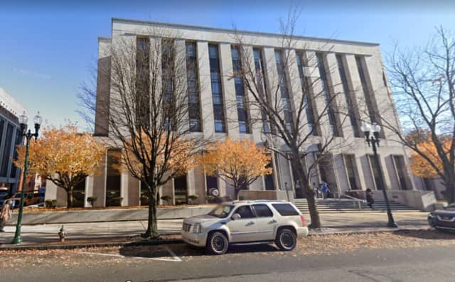 Dauphin County Courthouse on Market Street in Harrisburg.