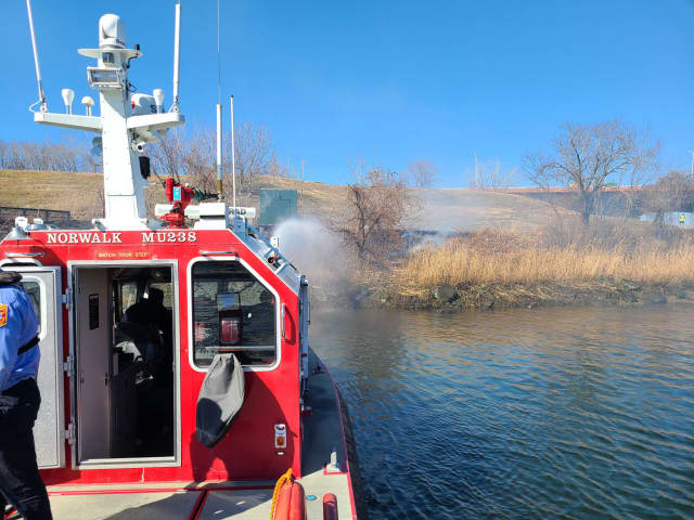 A fire at an area Norwalk park was quickly extinguished.